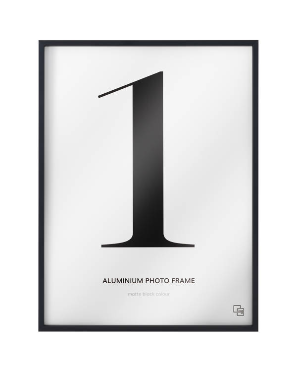 Aluminium fotokader, mat zwart gelakt